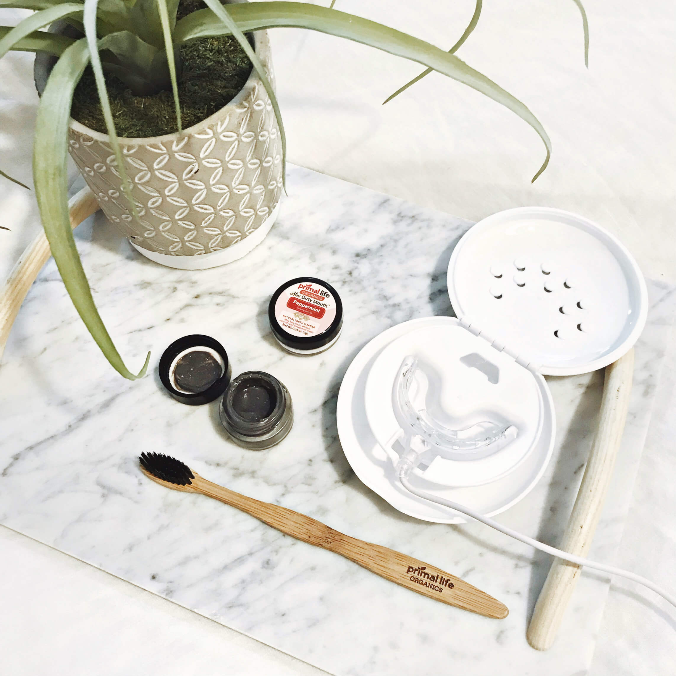 Perfect Party Flatlay, Teeth Whitening Tools, Tilden of To Be Bright