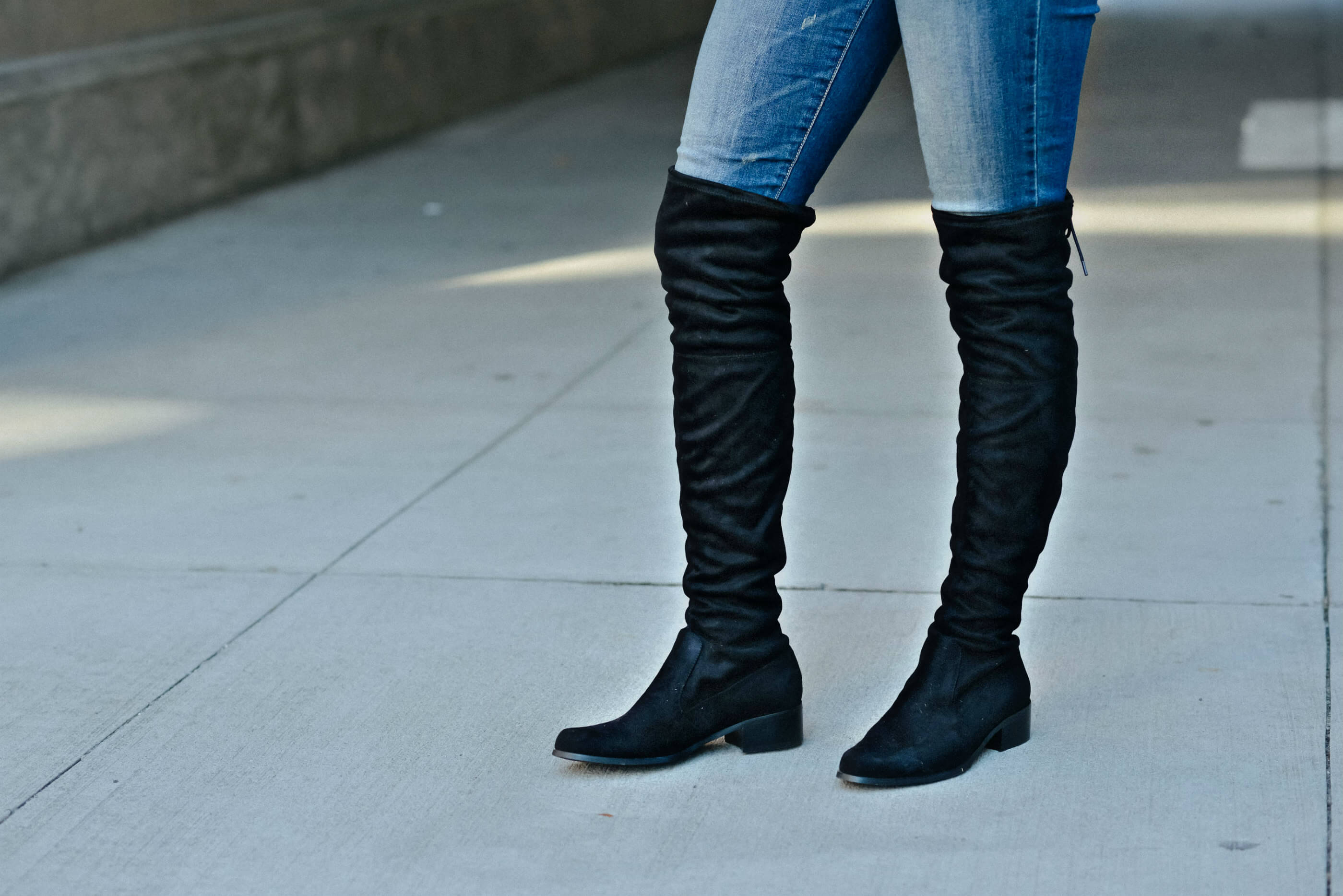 Black Over The Knee Boots, Tilden of To Be Bright