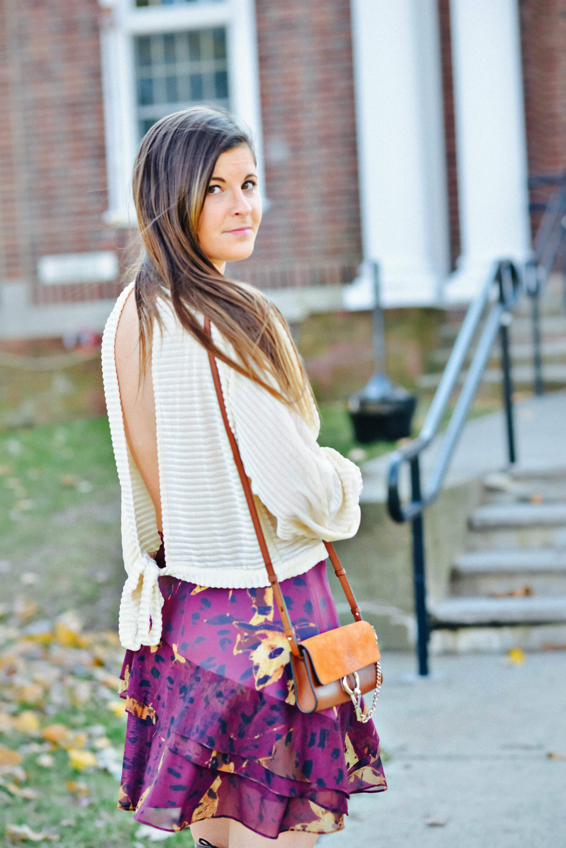 Open-Back Blouse, Holiday Brunch Outfit, Tilden of To Be Bright