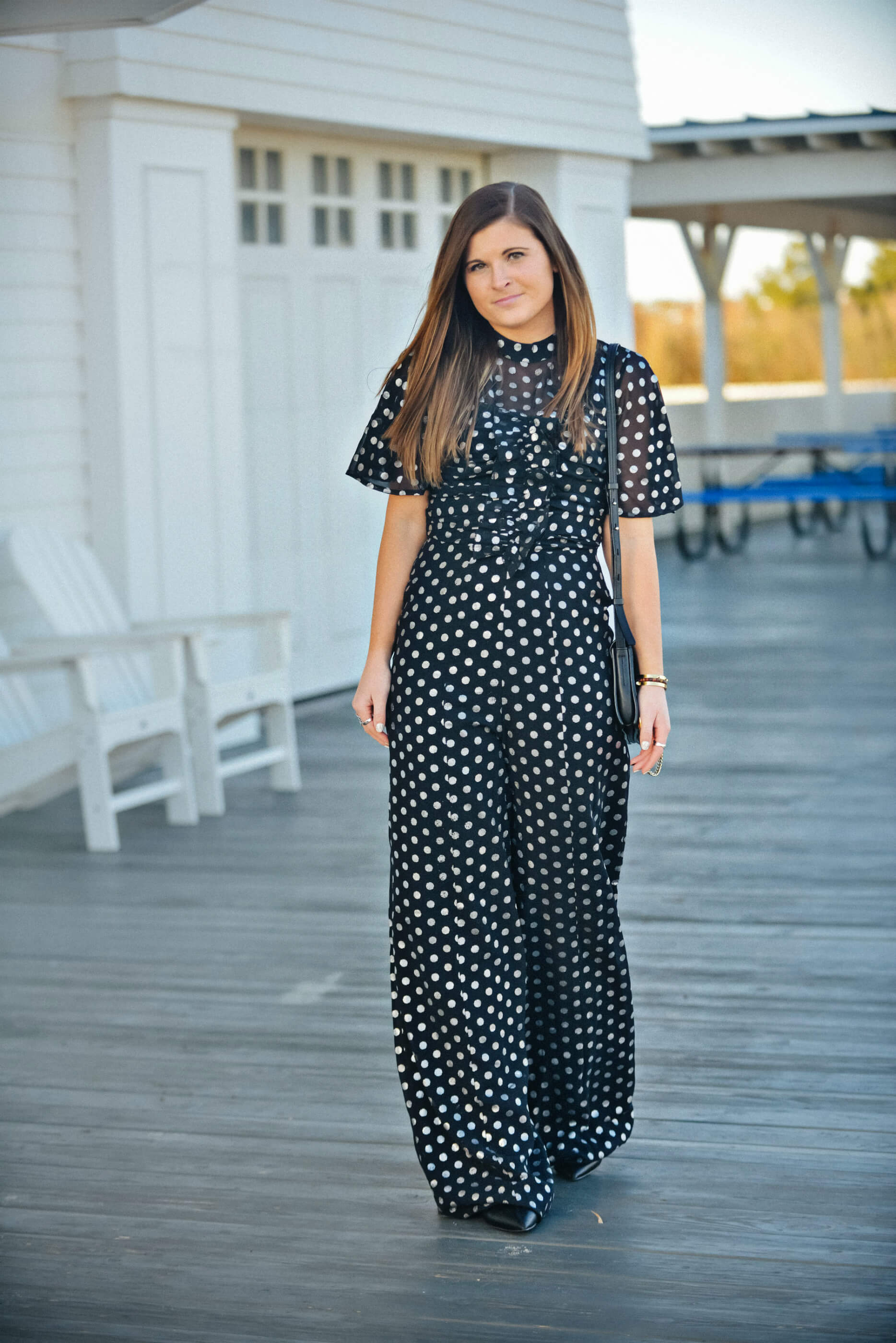 ASOS Metallic Dot Jumpsuit, Polka-Dot Jumpsuit, New Year's Eve Outfit Idea, Tilden of To Be Bright