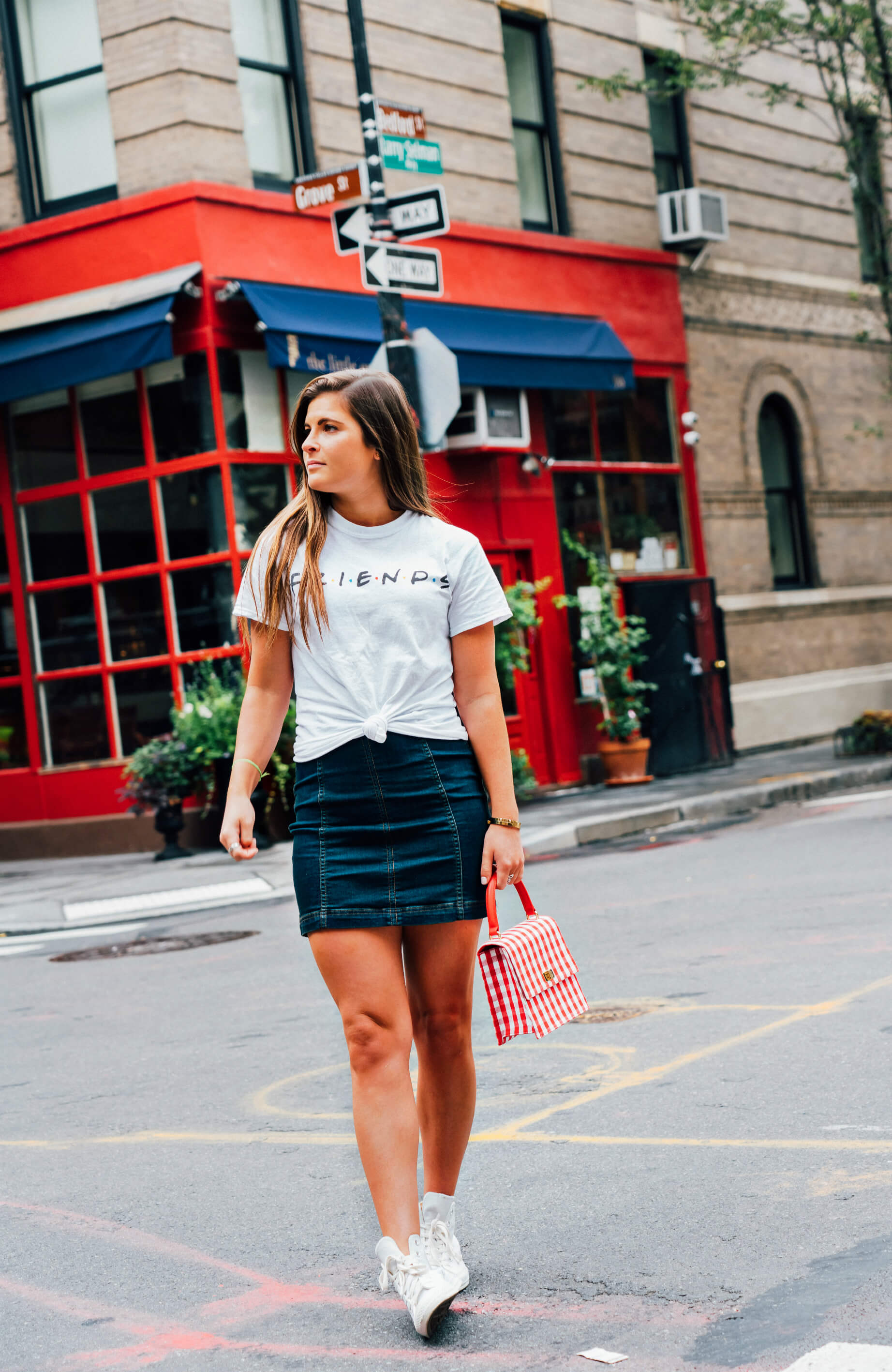 Friends Apartment Building, 90 Bedford St, Urban Outfitters Friends T-Shirt, Fall Style, Tilden of To Be Bright